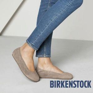 Birkenstock Ballet Flats Comfort Tan Suede